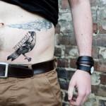 Nevermore Raven Dotwork tattoo by White Rabbit Tattoo