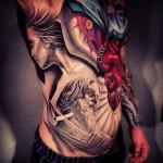 New School Full Body Religious tattoo
