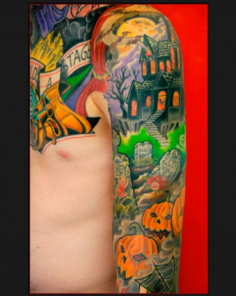 New School Halloween tattoo by Chapel tattoo