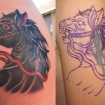 Nightmare Horse Cover Up tattoo design