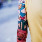 Nintendo Mario tattoo sleeve