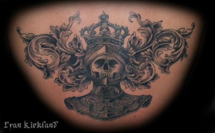 Nobel Scull Knight tattoo by Last Angels Tattoo
