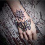 North Star Butterfly tattoo by Hidden Moon Tattoo