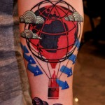 Nothing Stops The World Trash Polka tattoo