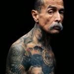 Old Gang Member Full Body Chicano tattoo