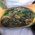 Old Harley Davidson tattoo by Johnny Smith Art