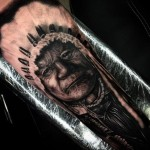 Old Indian Elder Realistic tattoo by Drew Apicture