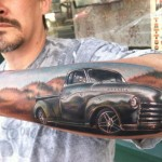 Old Pick Up Truck Realistic tattoo by Johnny Smith Art
