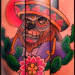 Old School Chicano Monkey tattoo by Chapel tattoo
