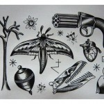 Old School Mash Up tattoo sketches