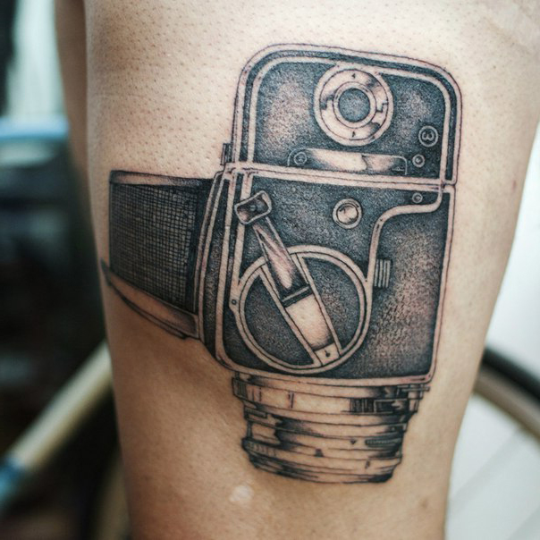 Old Video Camera Graphic tattoo idea