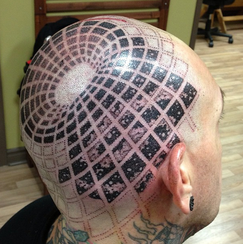 Optical Trap Head tattoo