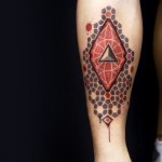 Paint Flawes Dotwork Triangle tattoo by 2vision Estudio
