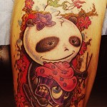 Panda Wasted New School tattoo idea