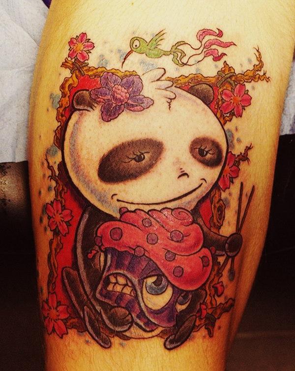 Panda Wasted New School tattoo idea