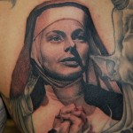 Peaceful Nun Chicano tattoo