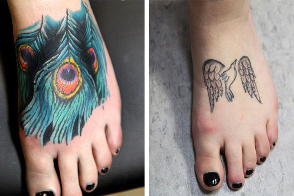 peacock feather cover up tattoo on foot best tattoo ideas gallery. Black Bedroom Furniture Sets. Home Design Ideas