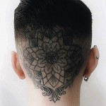 Plain Mandala Head tattoo