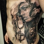 Praying Beauty Chicano tattoo