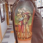 Primitive Salvador Dali Style People New School tattoo