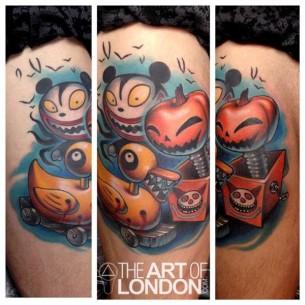 Pumpkin in a Box Duck New School tattoo by The Art of London