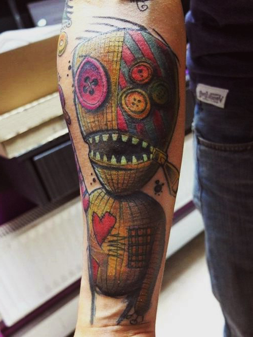 Puppet of The 9 New School tattoo