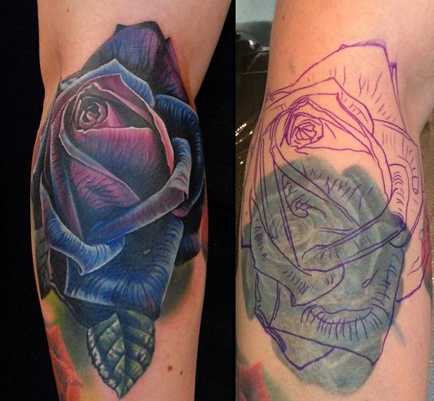 Rose Tattoo Cover Up: Best Tattoo Ideas Gallery - Part 2