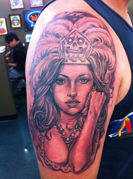 Queen of Inca Chicano tattoo