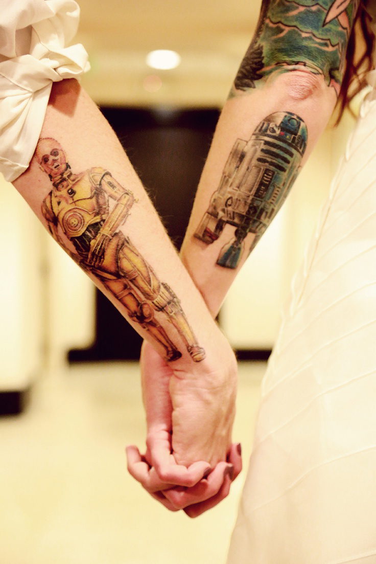 R2D2 and C3PO Couple tattoo