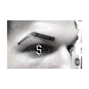 Razor Hairbrush Eyebrow tattoo