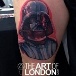Realistic Darth Vader Star Wars tattoo by The Art of London