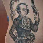 Realistic Duelist Graphic tattoo idea
