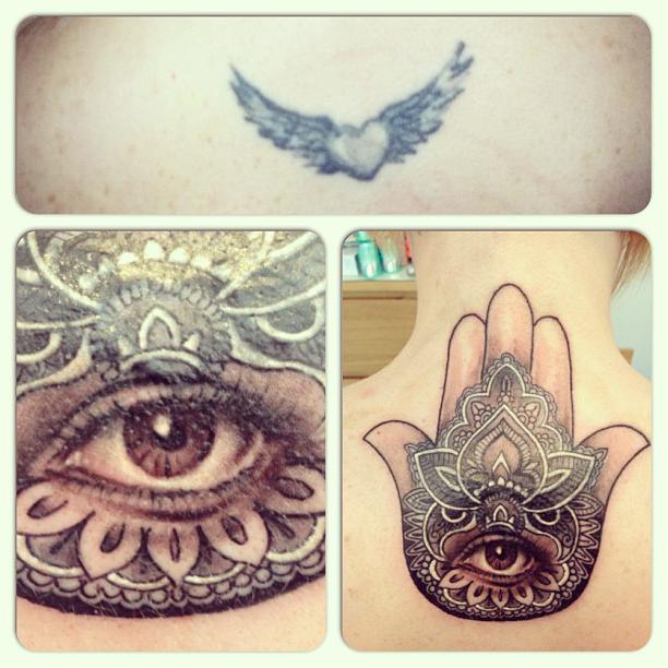 Realistic Eye Mandala Cover Up tattoo