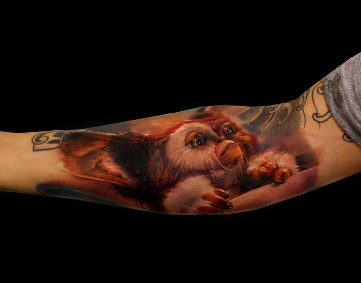 Realistic Gremlin tattoo by Samuel Potuček