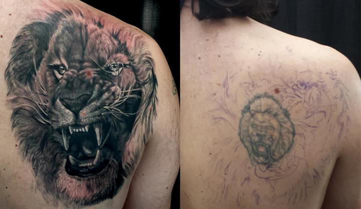realistic growling lion cover up tattoo design best tattoo ideas gallery. Black Bedroom Furniture Sets. Home Design Ideas
