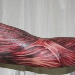 Realistic Hand Muscles tattoo sleeve