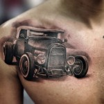Retro Car Chicano tattoo