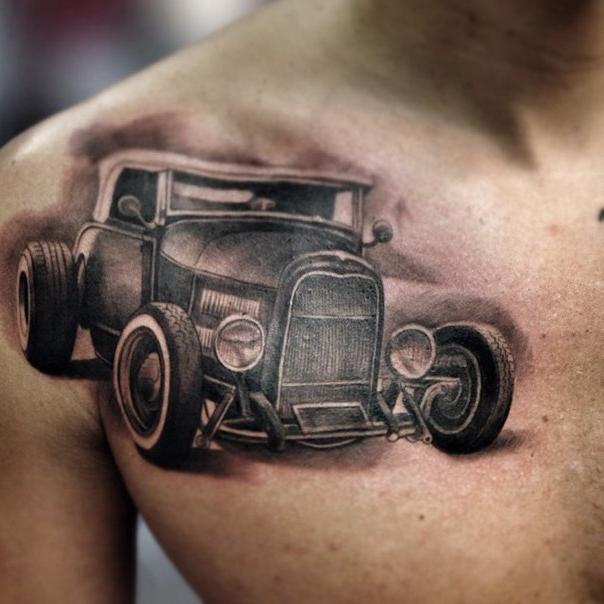 Retro Car Chicano tattoo