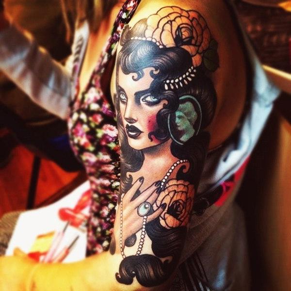 Rich Beauty New School tattoo