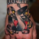 Robo Skulls Wrist tattoo by Marked For Life