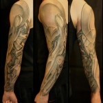 Robotic Armor by Biomechanical tattoo sleeve White Rabbit Tattoo