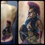 Roman Amazon Realistic tattoo by Last Angels Tattoo