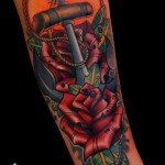 Rose Anchor Nautical tattoo
