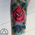 Rose Bulb New School tattoo by The Art of London