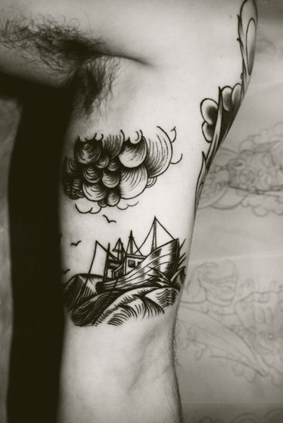 Sail Through the Storm Graphic tattoo idea