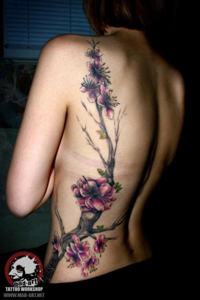 Sakura Aquarelle tattoo by Mad-art Tattoo