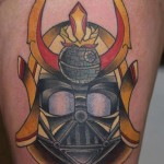 Samurai Darth Vader Star Wars tattoo by Last Angels Tattoo
