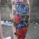Sand Watch Old School tattoo by Marked For Life