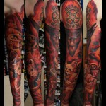 Satan and Imps tattoo sleeve