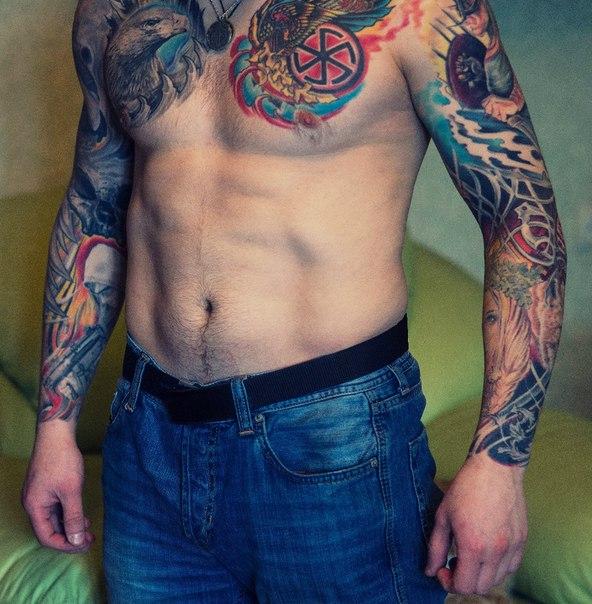 Scandinavia Both Hands Tattoo Sleeve